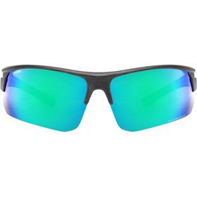 UVEX Sportstyle Ocean Polavision Glasses, zwart/groen